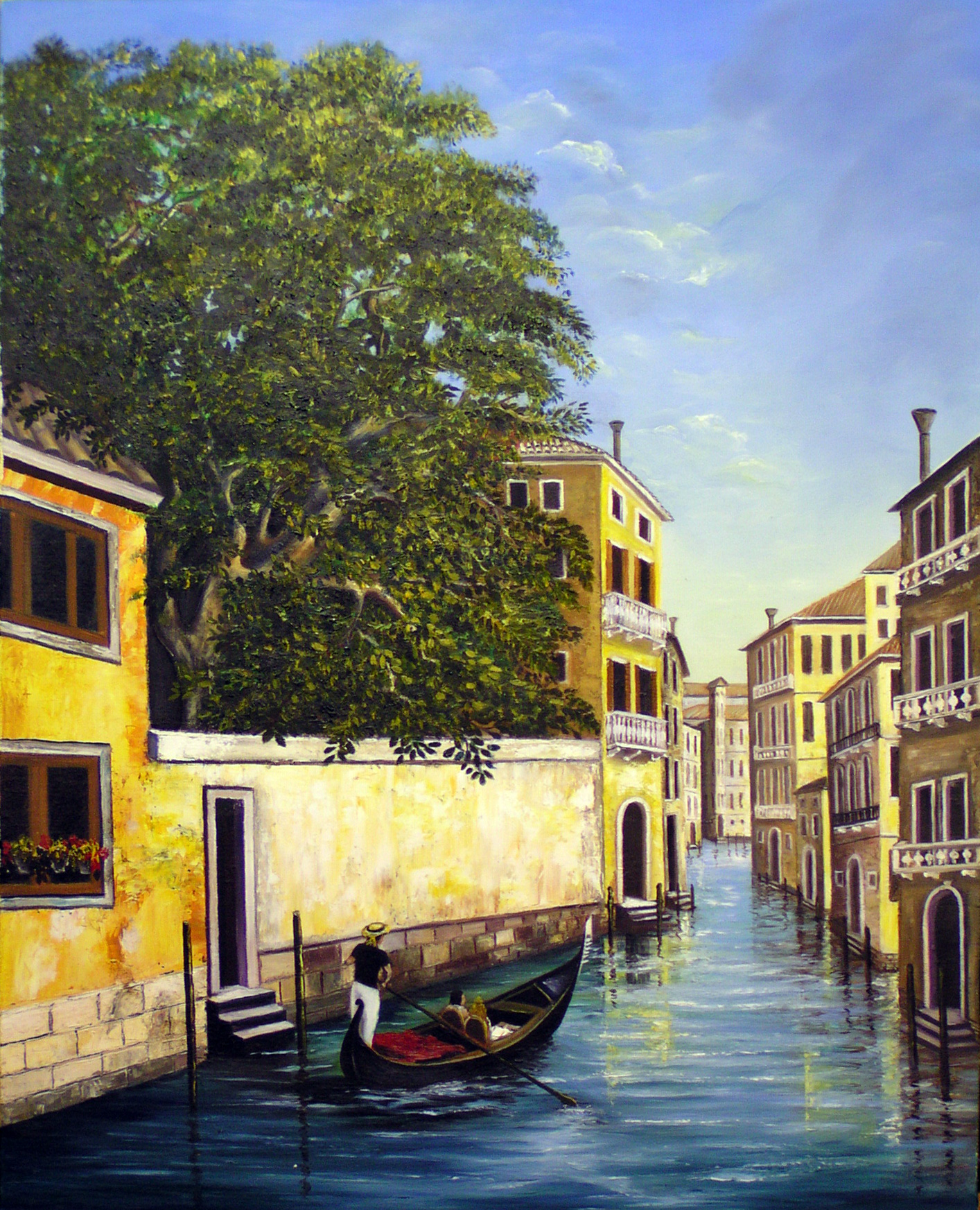Venice – Canal with Tree